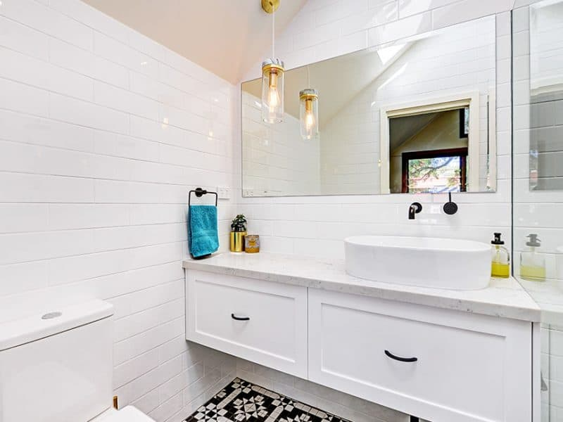 Hamptons Bathroom Design Marrickville